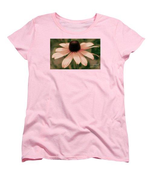 Soft Delicate Pink Daisy Women's T-Shirt (Standard Cut) by Judy Palkimas
