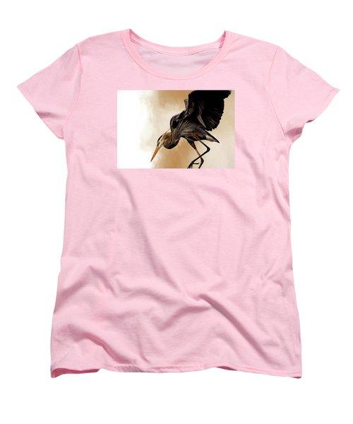 Soft Landing Women's T-Shirt (Standard Cut) by Cyndy Doty