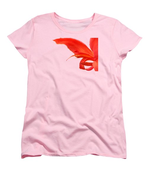 Softly Red Canna Lily Women's T-Shirt (Standard Cut) by Debbie Oppermann