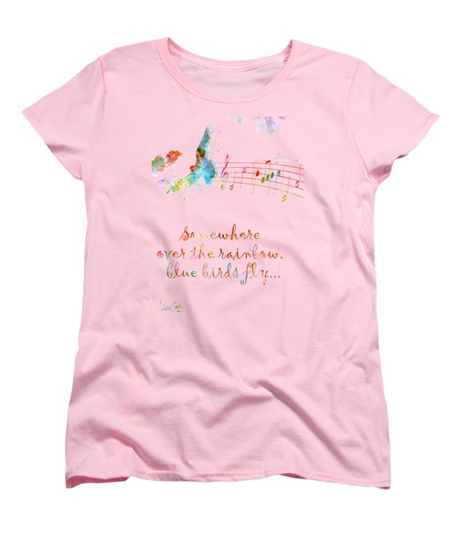 Somewhere Over The Rainbow Women's T-Shirt (Standard Cut) by Nikki Smith