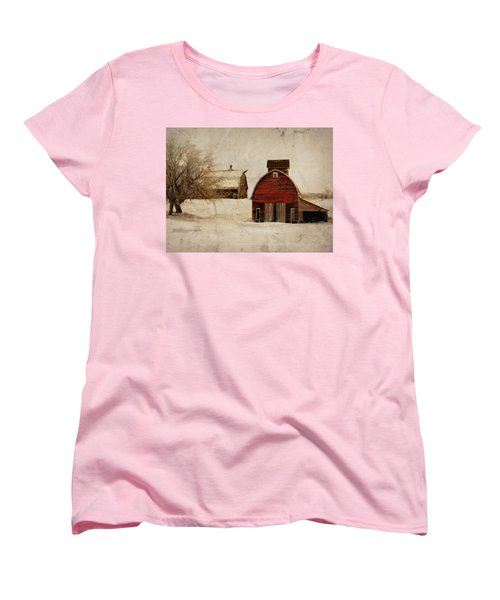 South Dakota Corn Crib Women's T-Shirt (Standard Cut) by Julie Hamilton