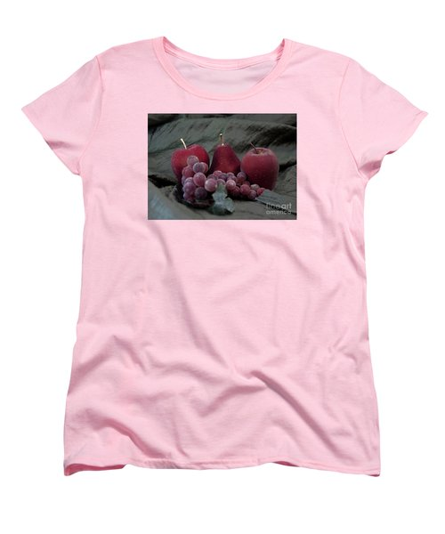 Women's T-Shirt (Standard Cut) featuring the photograph Sparkeling Fruits by Sherry Hallemeier