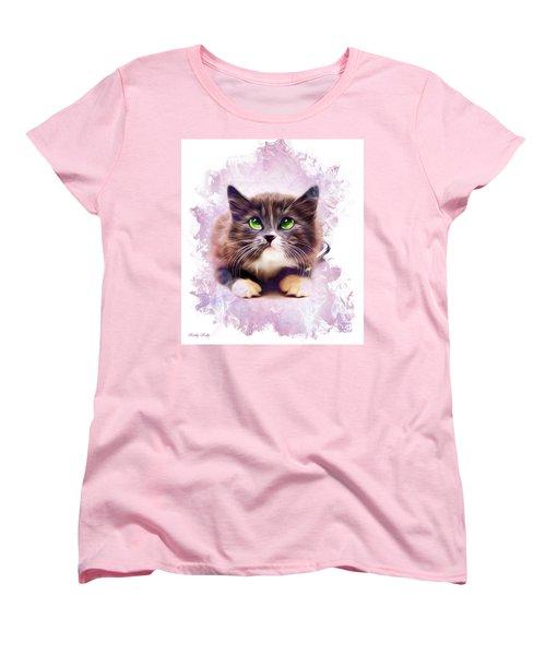 Spice Kitty Women's T-Shirt (Standard Cut) by Kathy Kelly