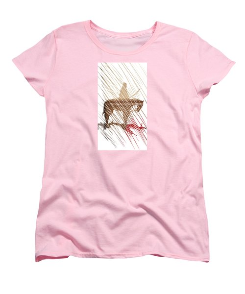 Spirit Animal . War Horse  Women's T-Shirt (Standard Cut) by John Jr Gholson