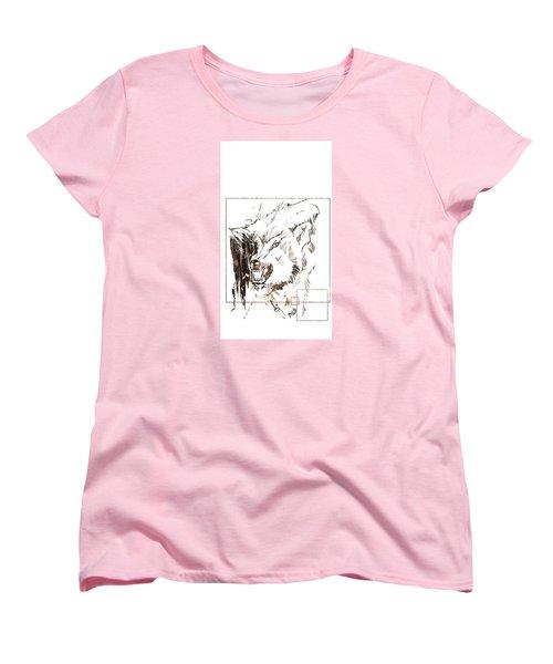 Spirit Animal . Wolf Women's T-Shirt (Standard Cut) by John Jr Gholson