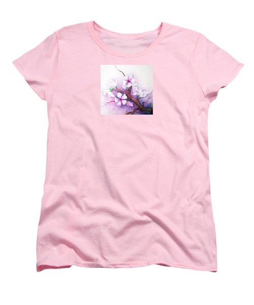 Spring Blooms Women's T-Shirt (Standard Cut) by Rebecca Davis