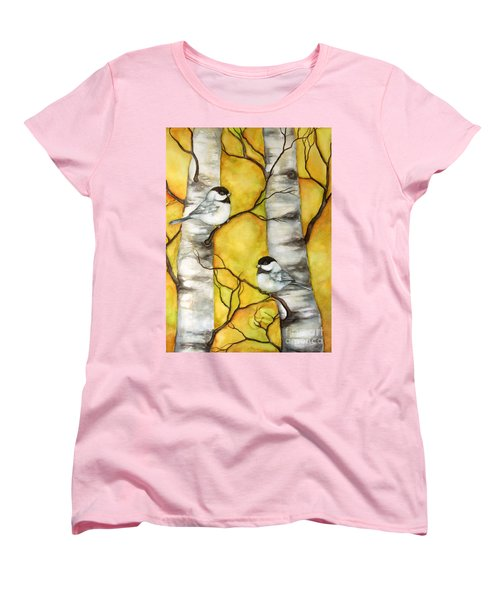 Women's T-Shirt (Standard Cut) featuring the painting Spring by Inese Poga