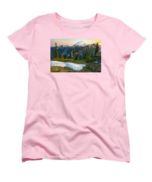 Women's T-Shirt (Standard Cut) featuring the photograph Spring Melt by Ryan Manuel
