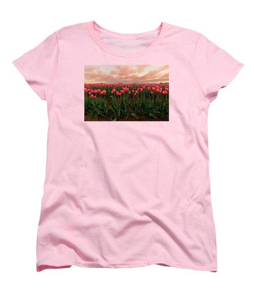 Spring Rainbow Women's T-Shirt (Standard Cut) by Ryan Manuel
