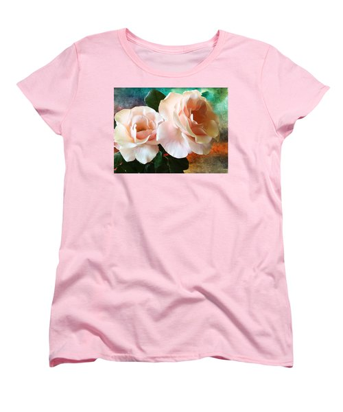 Women's T-Shirt (Standard Cut) featuring the photograph Spring Roses by Gabriella Weninger - David