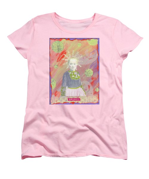 Women's T-Shirt (Standard Cut) featuring the mixed media Spunky Got Funky by Desiree Paquette