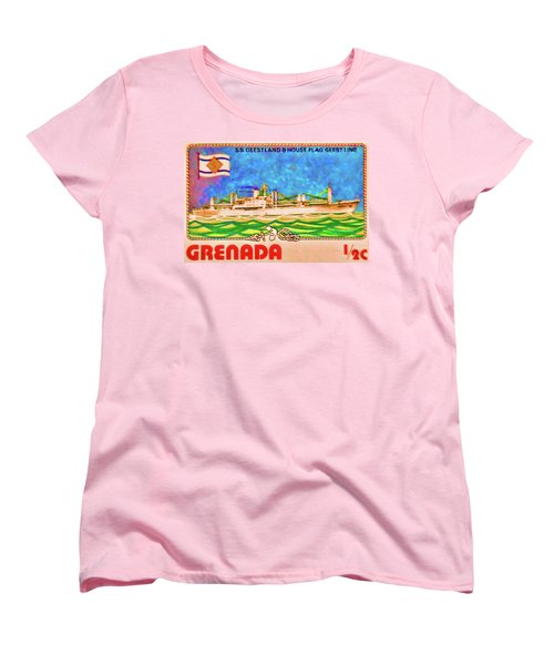 S.s Geestland And House Flag Geest Line Women's T-Shirt (Standard Cut) by Lanjee Chee