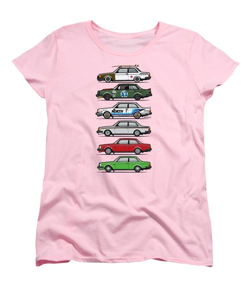 Stack Of Volvo 242 240 Series Brick Coupes Women's T-Shirt (Standard Cut) by Monkey Crisis On Mars