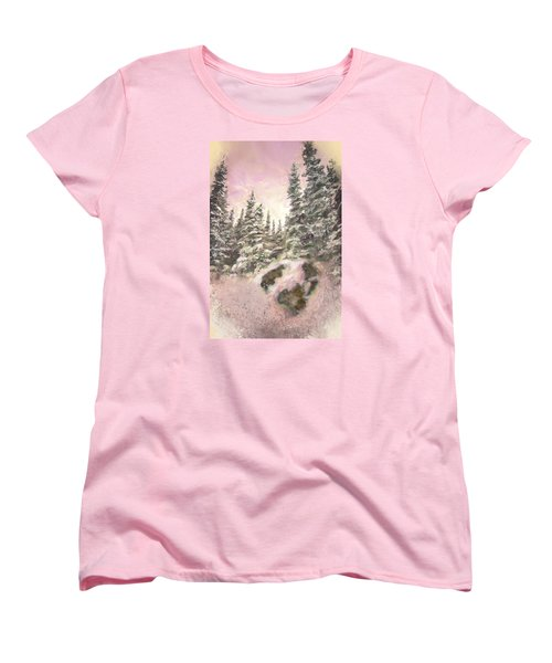 Women's T-Shirt (Standard Cut) featuring the painting Standing Tall by Annette Berglund