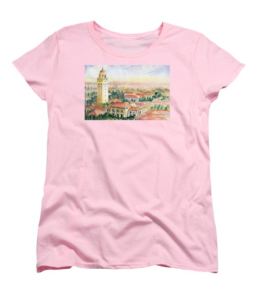 Stanford University California Women's T-Shirt (Standard Cut) by Melly Terpening