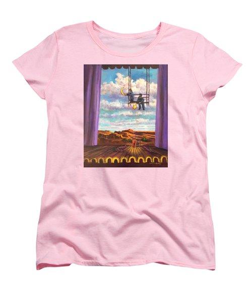 Starry Day Women's T-Shirt (Standard Cut) by Randy Burns