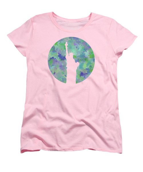 Statue Of Liberty Silhouette Women's T-Shirt (Standard Cut) by Phil Perkins