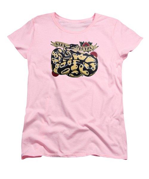 Stay Royal Ball Python Women's T-Shirt (Standard Cut)