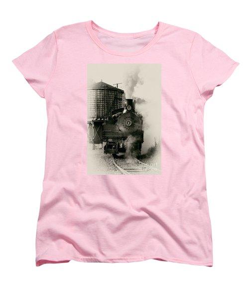 Steam Train Women's T-Shirt (Standard Cut) by Jerry Fornarotto