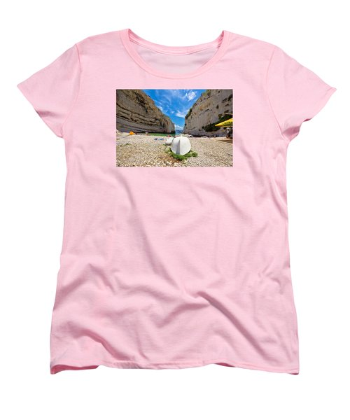 Stinva Bay Beach Summer View Women's T-Shirt (Standard Cut) by Brch Photography