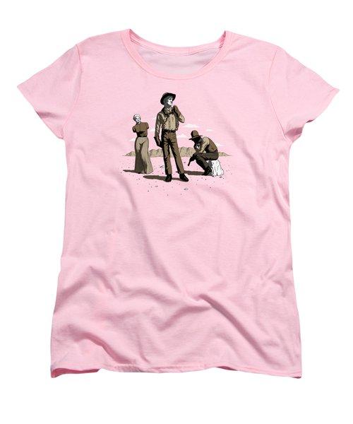 Stone-cold Western Women's T-Shirt (Standard Cut) by Ben Hartnett