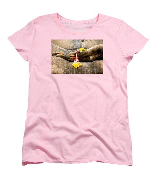 Stone Hand Of Buddha Women's T-Shirt (Standard Cut) by Adrian Evans