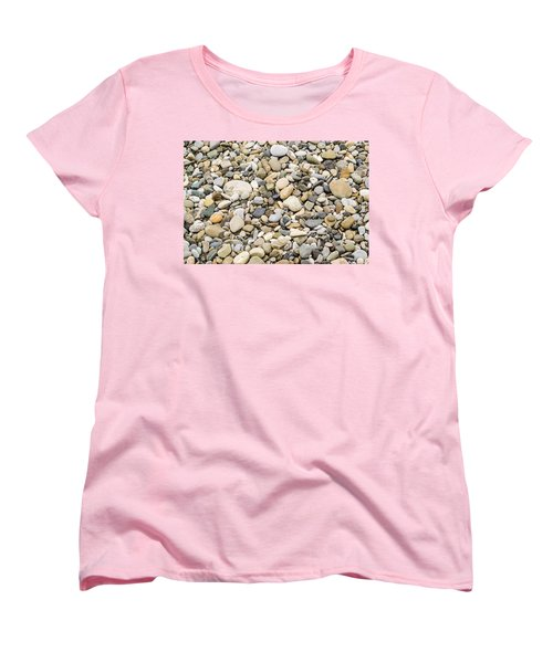 Women's T-Shirt (Standard Cut) featuring the photograph Stone Pebbles Patterns by John Williams