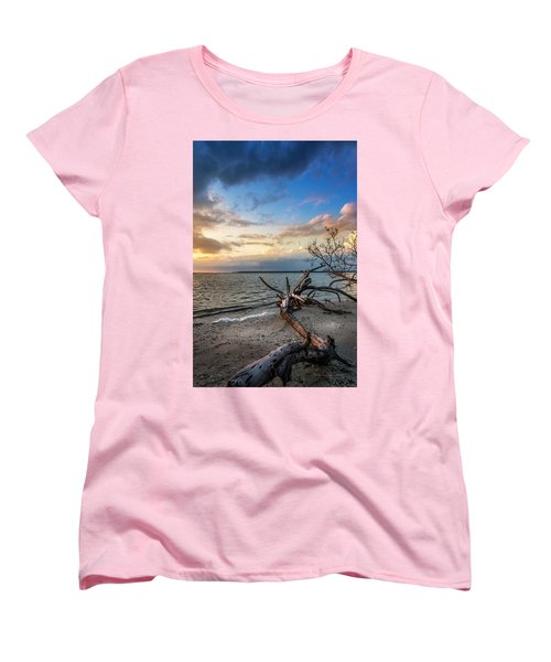 Women's T-Shirt (Standard Cut) featuring the photograph Stormy Sunset by Marvin Spates