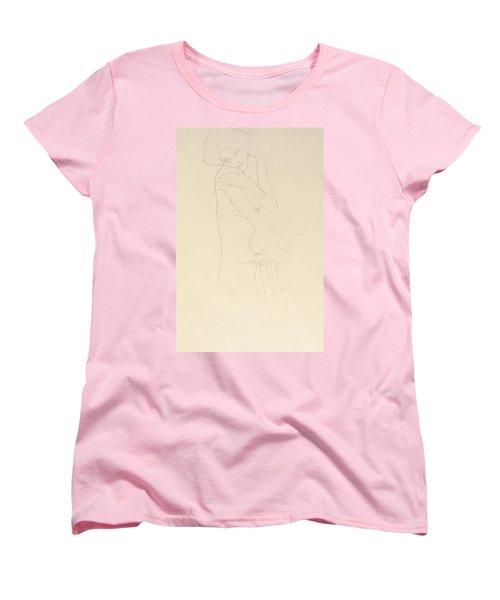 Study For Adele Bloch Bauer II Women's T-Shirt (Standard Cut) by Gustav Klimt