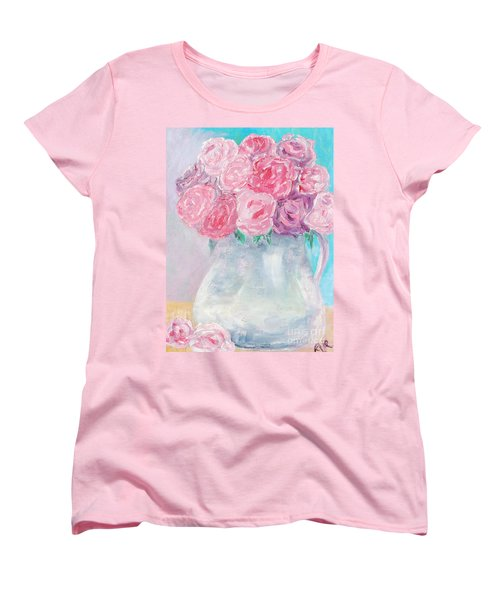 Women's T-Shirt (Standard Cut) featuring the painting Study  by Reina Resto