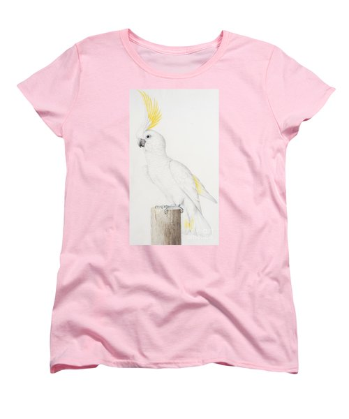 Sulphur Crested Cockatoo Women's T-Shirt (Standard Cut) by Nicolas Robert