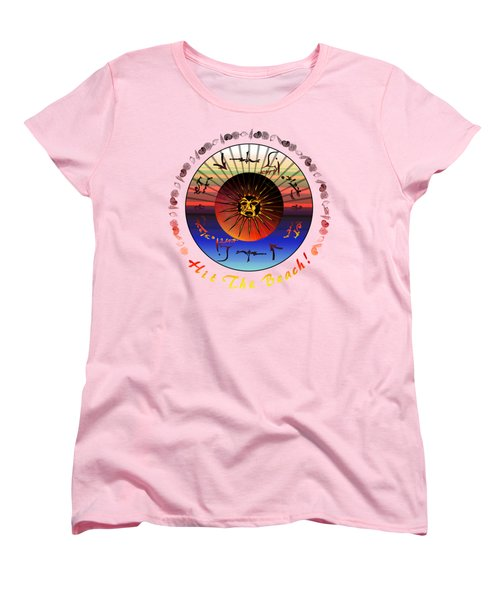 Sun Face Stylized Women's T-Shirt (Standard Cut) by Robert  G Kernodle