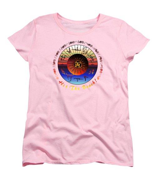 Sun Face Stylized Women's T-Shirt (Standard Cut)