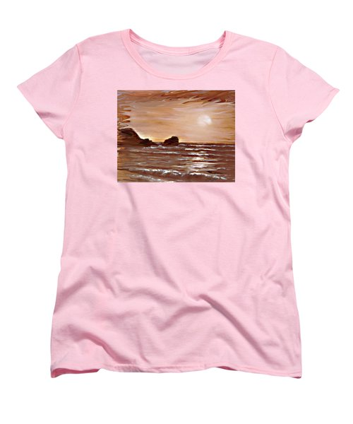 Sundown Glow Women's T-Shirt (Standard Cut) by Desline Vitto