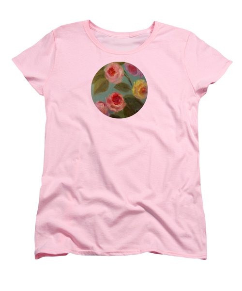 Sunlit Roses Women's T-Shirt (Standard Cut) by Mary Wolf