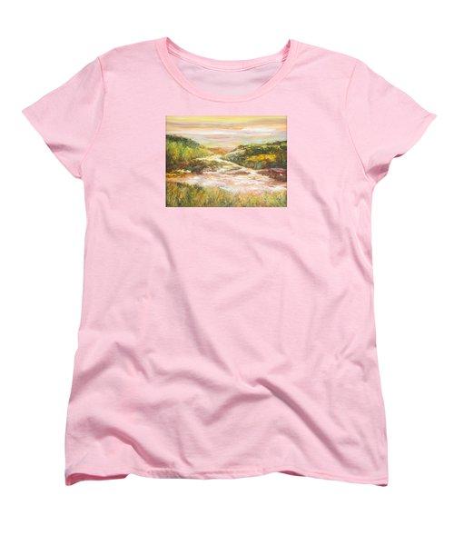 Sunlit Stream Women's T-Shirt (Standard Cut) by Glory Wood
