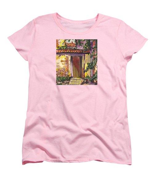 Sunny Doorway Women's T-Shirt (Standard Cut) by Darren Cannell