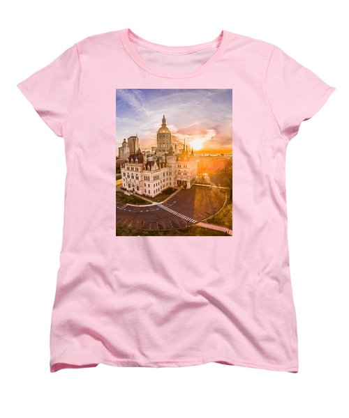 Sunrise In Hartford Connecticut Women's T-Shirt (Standard Cut) by Petr Hejl