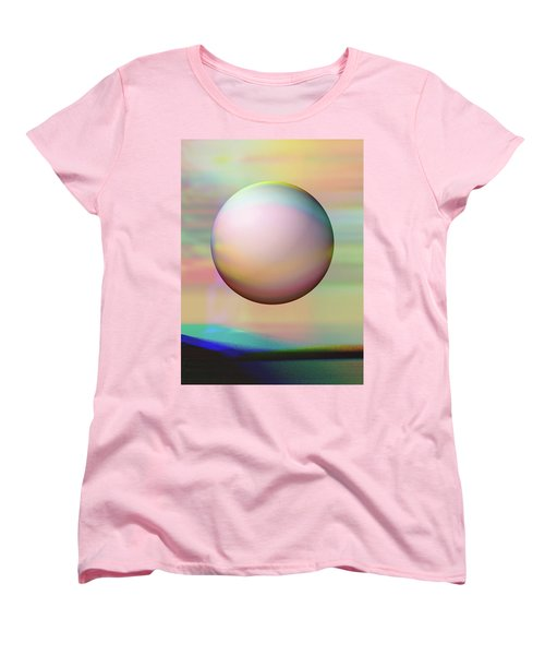 Women's T-Shirt (Standard Cut) featuring the digital art Sunrise Visitor by Wendy J St Christopher