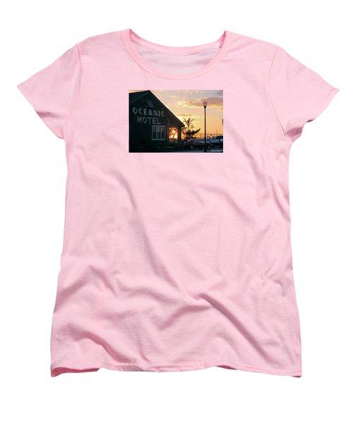 Sunset At Oceanic Motel Women's T-Shirt (Standard Cut)