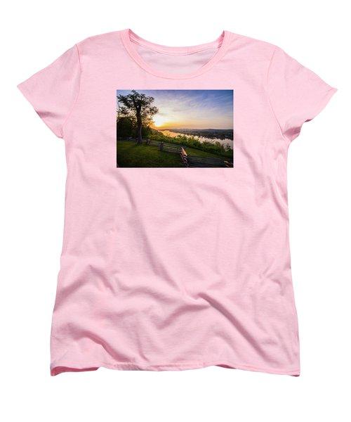 Sunset From Boreman Park Women's T-Shirt (Standard Cut) by Jonny D