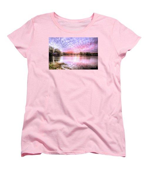 Sunset On Flint Creek Women's T-Shirt (Standard Cut) by Maddalena McDonald