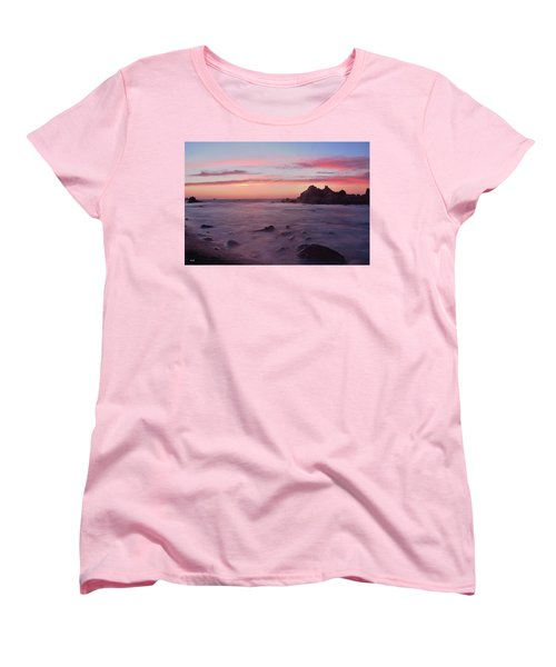 Women's T-Shirt (Standard Cut) featuring the photograph Sunset On Monterey Bay by Dana Sohr