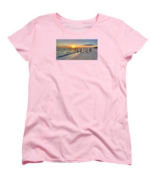 Sunset Pilings Women's T-Shirt (Standard Cut) by Sean Allen
