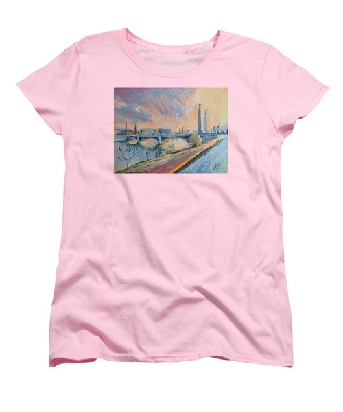 Sunset Pont Fragnee Women's T-Shirt (Standard Cut) by Nop Briex