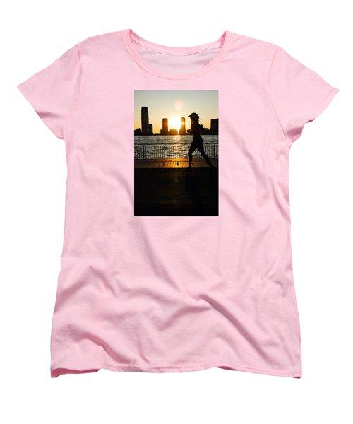 Sunset Runner Women's T-Shirt (Standard Cut) by James Kirkikis