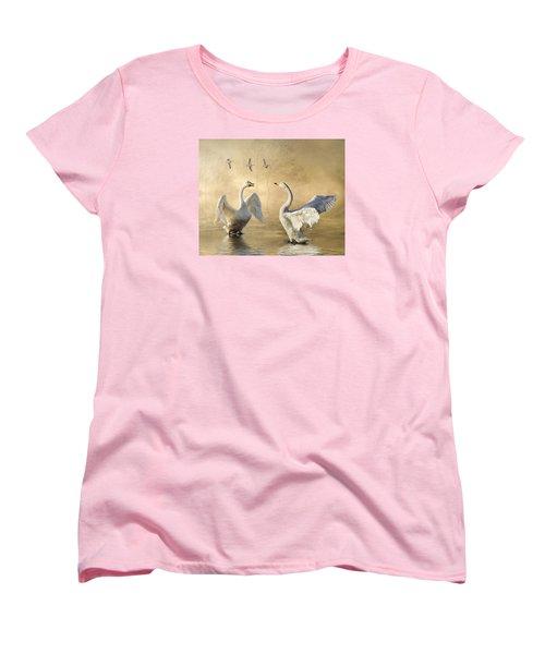 Women's T-Shirt (Standard Cut) featuring the photograph Sunset Squabble by Brian Tarr