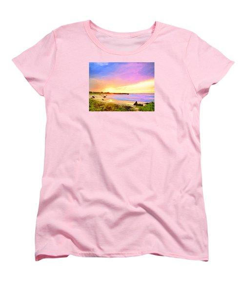 Sunset Walk Women's T-Shirt (Standard Cut) by Dominic Piperata