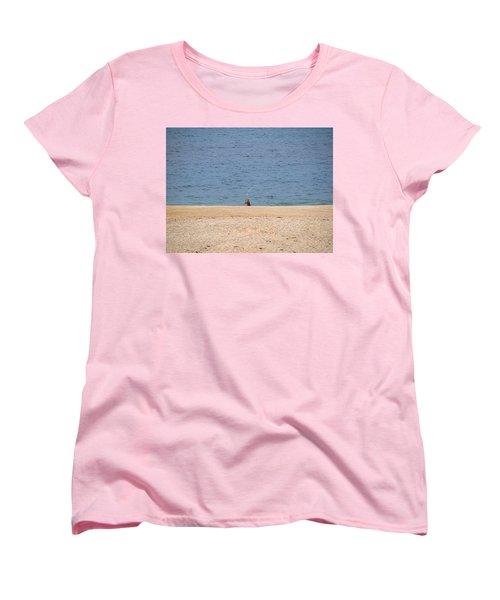 Women's T-Shirt (Standard Cut) featuring the photograph Surf Caster by  Newwwman