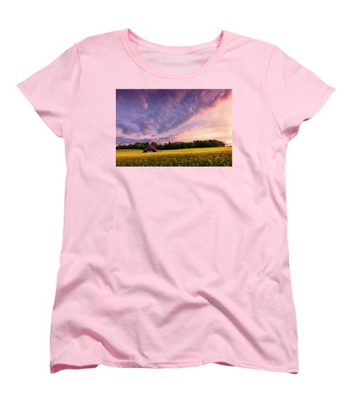 Surrounded Women's T-Shirt (Standard Cut) by Dominique Dubied